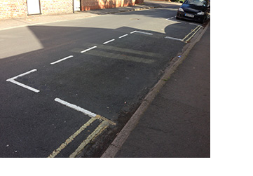 CPZ road markings parking bay