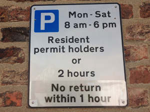 Resident parking scheme - in-page image